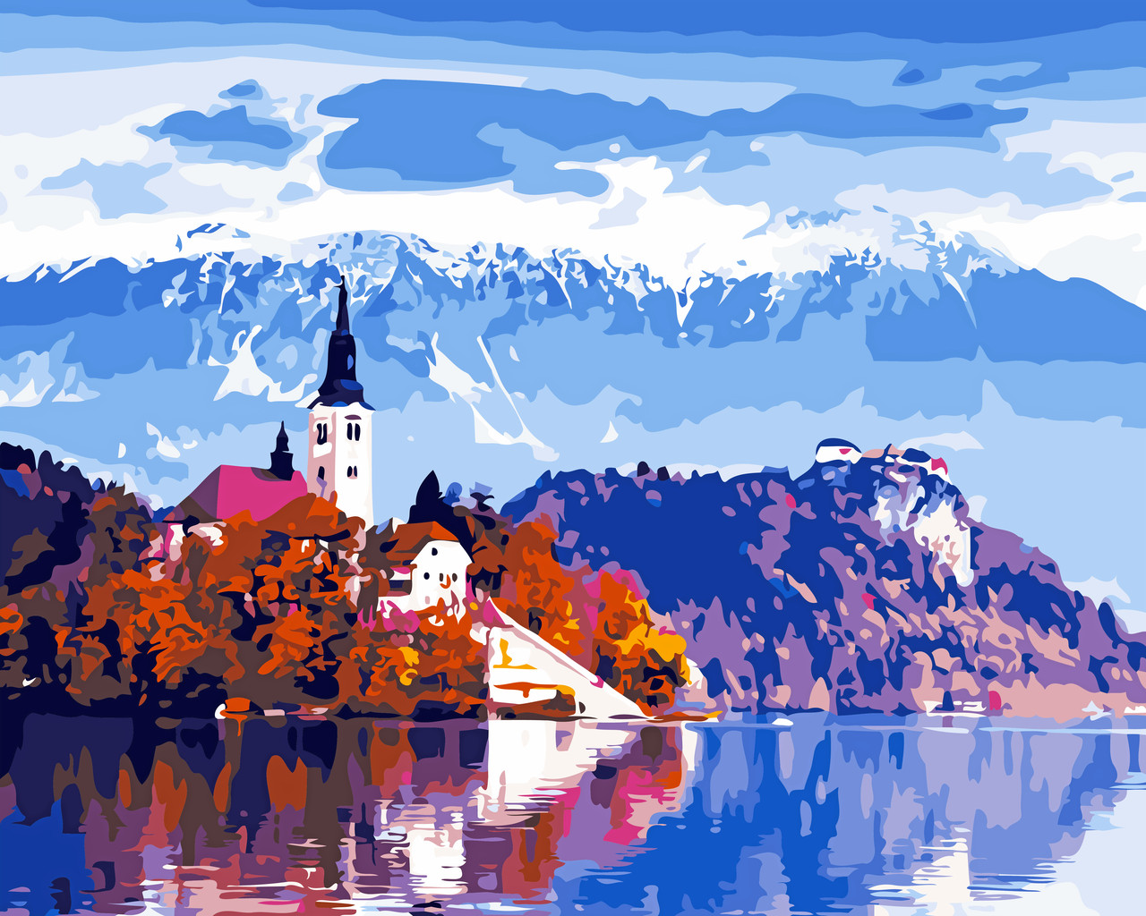 Художественный творческий набор, картина по номерам Красота Австрии, 50x40 см, «Art Story» (AS0538)