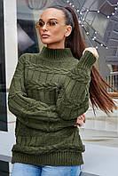 Свитер женский, цвет: зелёный, размер: S-XL