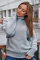Свитер женский, цвет: серый, размер: S-XL