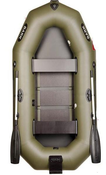 Двухместная гребная надувная лодка Bark (Барк)В260N с транцем, реечным настилом.