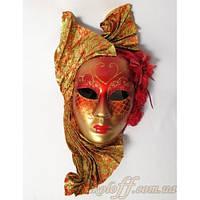 Венецианская маска красно-золотая