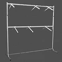 Стойка для одежды на две стороны двухярусная с флейтами 200 см