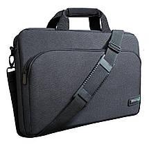 """Сумка для ноутбука 15.6"""" Grand-X SB-129, черная, 39 х 27 х 3 см, фото 2"""