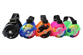 Ролики на п'яту/колеса на п'яту BS Flashing Roller, що світяться колеса, різном. кольори