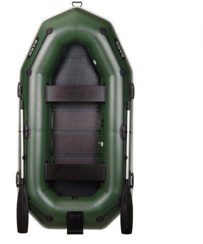 Двухместная гребная надувная лодка Bark (Барк) В-270NP, привальный брус, реечный настил, транец