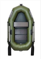 Одноместная гребная надувная лодка Омега Ω 190LS из Пвх, твердый пол