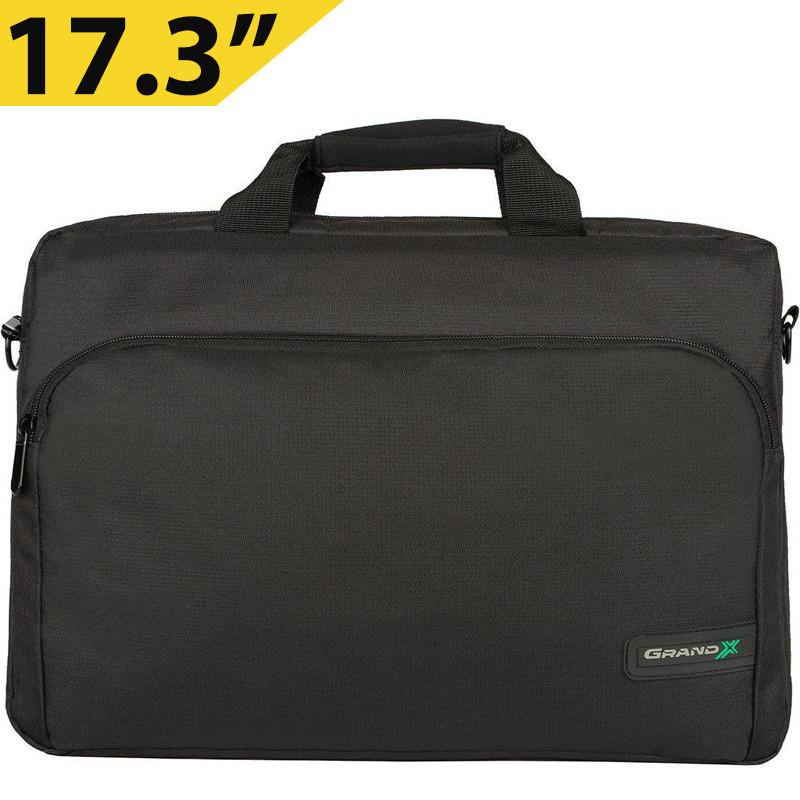 """Сумка для ноутбука 17.3"""" Grand-X SB-179, чорна, нейлон, 43 х 28 х 3,5 см"""