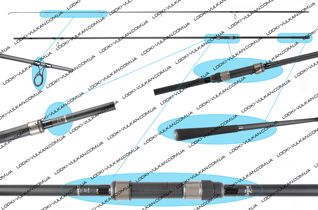 Массивное карповое удилище Carp Zoom Fanatic Plus carp rod