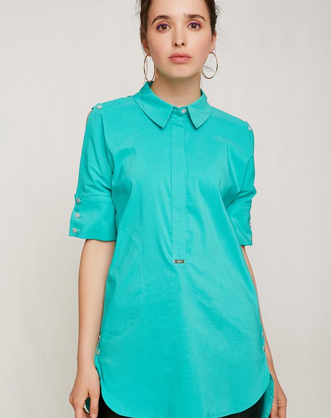 Рубашка удлиненная ментол 2157