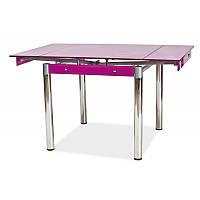 Стеклянный стол GD-082 35167, цвет - фиолетовый