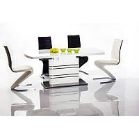 Стеклянный стол Gucci 140*85(200) 92050, цвет - белый