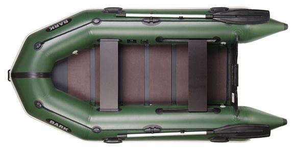 Двомісна моторний надувний човен Bark BT-290 з рейковим настилом