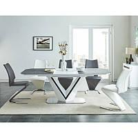 Стол трансформер Valerio Ceramic 93051, цвет - бело/чёрный