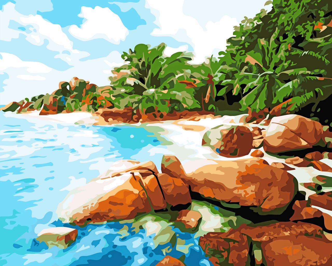Художественный творческий набор, картина по номерам Райское место, 50x40 см, «Art Story» (AS0542)