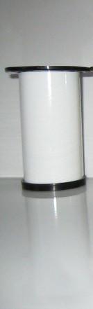 Ножка для мебели, опора для мебели H80 мм D60 мм, белый глянец