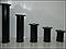 Ножка мебельная, опора для мебели H80 мм D50 мм. Черный глянец, фото 4