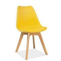 Стул из кож-зама Kris buk 94061, цвет - желтый