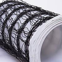 Сетка для волейбола  (PP, р-р 9,5x1м, ячейка 12x12см, с метал. тросом)