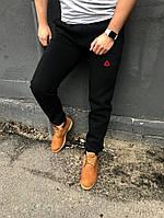Теплые мужские спортивные штаны Reebok (Рибок) / Мужские спортивные брюки осень-зима