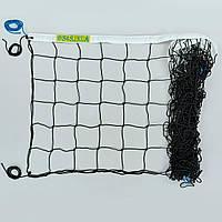 Сетка для волейбола Элит15  (PP 3,5мм, р-р 9x0,9м, ячейка 15x15см, паракорд)
