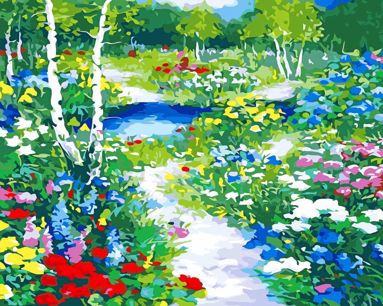 Художественный творческий набор, картина по номерам Цветочная поляна, 50x40 см, «Art Story» (AS0545)
