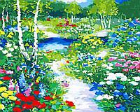 Художественный творческий набор, картина по номерам Цветочная поляна, 50x40 см, «Art Story» (AS0545), фото 1