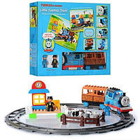 Железная дорога-конструктор JIXIN 8288A Паровозик Томас (аналог конструктора LEGO Duplo), 49 деталей