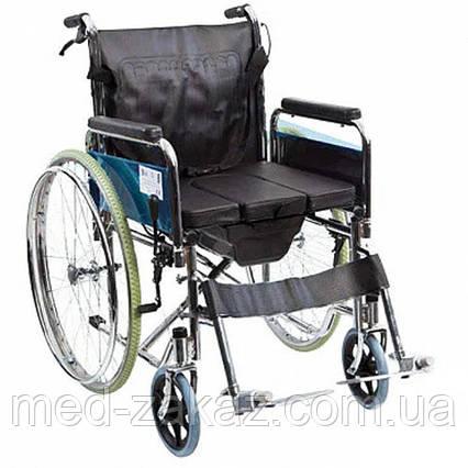 Коляска инвалидная Heaco G120 с санитарным оснащением без двигателя