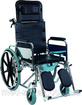 Коляска инвалидная многофункциональная Heaco Golfi-4 с санитарным оснащением без двигателя