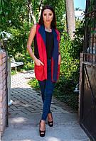 Стильные женские жилетки с двухцветного неопрена