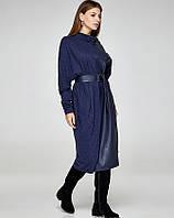 Платье в бохо стиле синее, код 2374