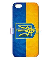 Чехол-бампер пластиковый Apple iphone 5 5S 5G Украинская символика Герб
