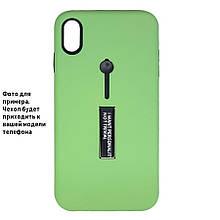 Накладка / Бампер KICKSTAND SOFT TOUCH Зеленый для телефона iPhone XR