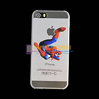 Чохол-бампер пластиковий Apple iphone 5 5S 5G Людина Павук, фото 1