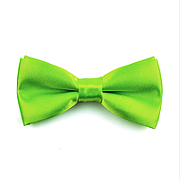 Галстук-бабочка детская, атласная №10 (салатово-зеленая)
