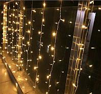 Гирлянда штора, занавес 3x2м 240 LED Белый теплый