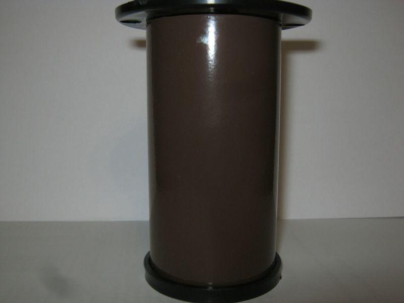 Мебельная ножка H 80 D50мм цвет шоколад глянец