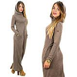Теплое платье с капюшоном / ангора Арктика / Украина 1-511-1, фото 2