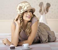 Шляпка женская зимняя со средним полем Willi Gracia