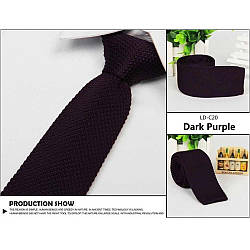 Галстук вязаный темно-фиолетовый