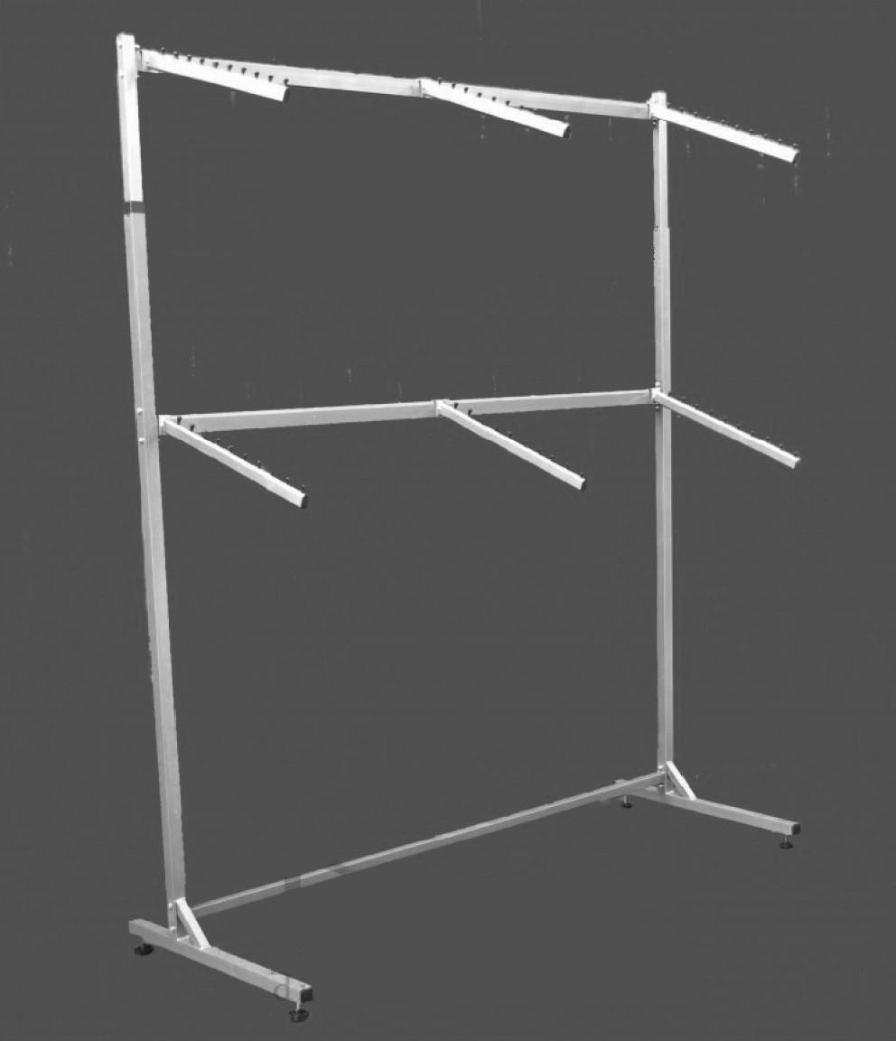 Стойка для одежды пристенная двойная с флейтами 200 см