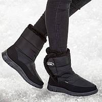 Ботинки женские оптом Гипанис на липучке черные