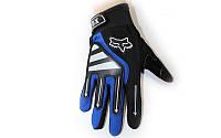Мотоперчатки текстильные FOX BC-4640-BL (закр.пальцы, р-р L, цвет синий)