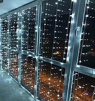 Гирлянда штора, занавес 3x2м 240 LED Белый