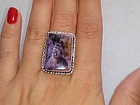 Чароит кольцо с натуральным чароитом в серебре 19,0- 19,5 размер Индия