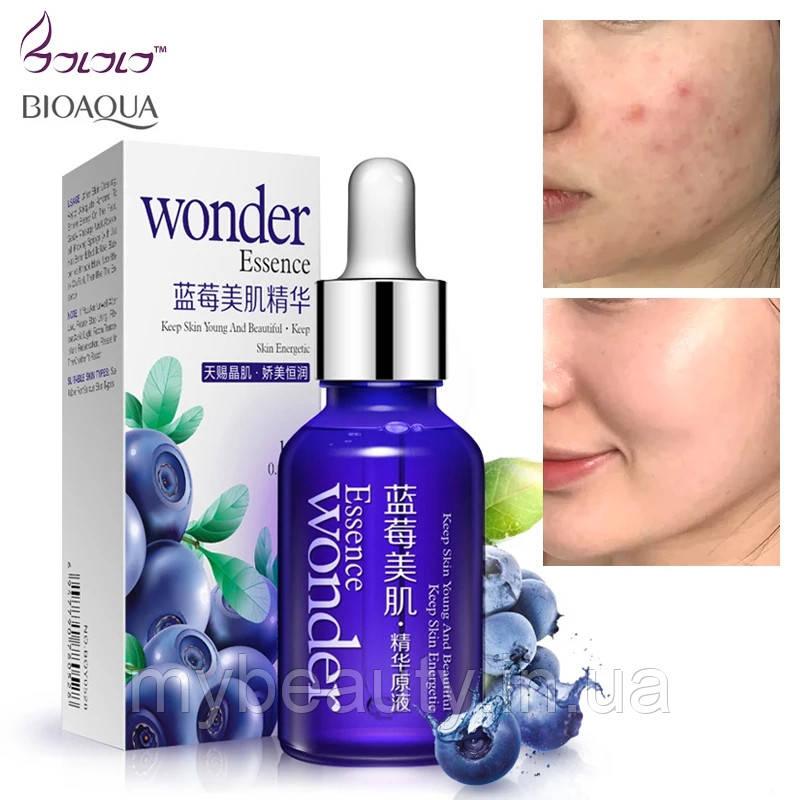Сыворотка для лица с экстрактом черники и гиалуроновой кислотой Bioaqua Wonder Essence (15 мл)