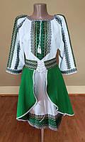 """Костюм з вишивкою """"Етнічний"""" зелений"""