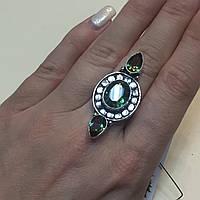 Мистик топаз кольцо с мистическим топазом в серебре. Размер 17,5-18 Индия!