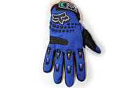 Мотоперчатки текстильные FOX BC-4641-BL(L) (закр.пальцы, р-р L, цвет синий)