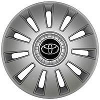 Колпак колесный Toyota R16 (серый с логотипом)